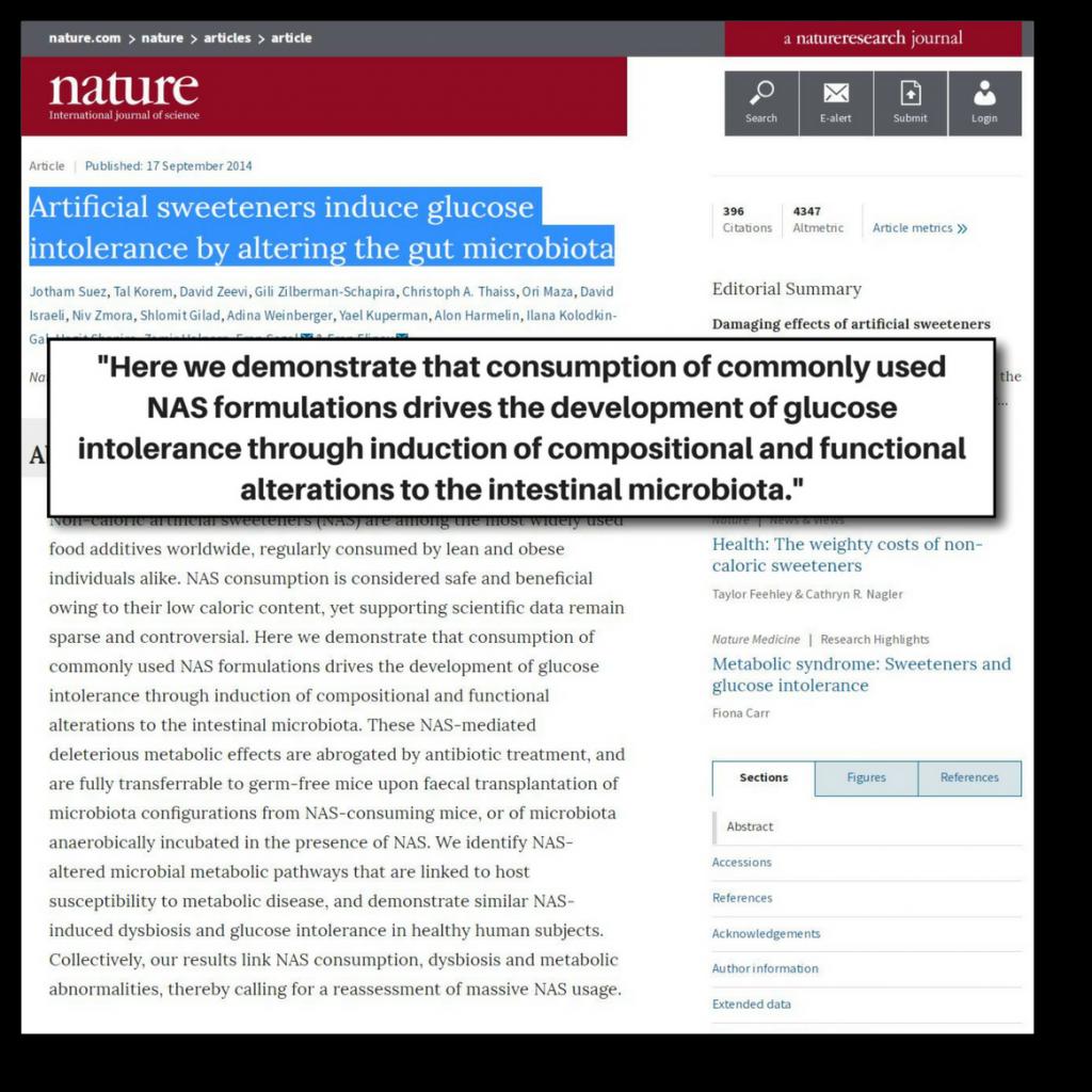artificial sweeteners increase insulin senstitivity - study 2
