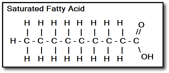 best cooking oils - Saturated Fatty Acid
