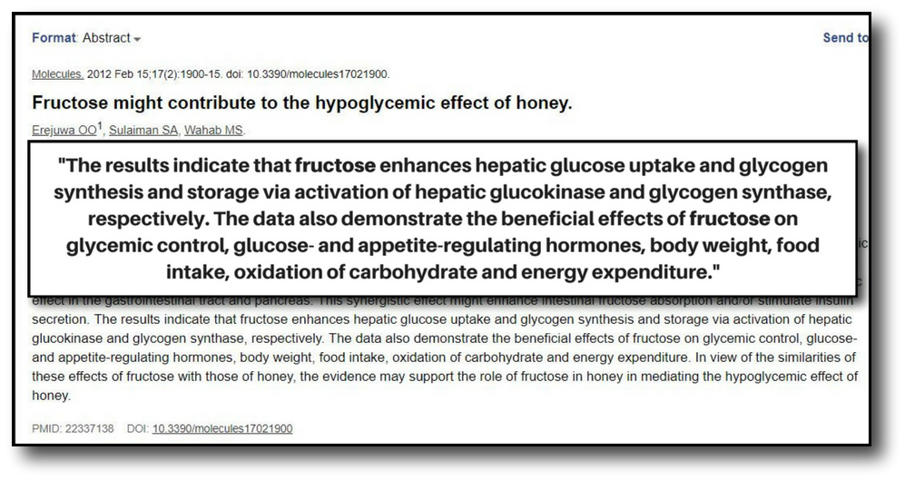 honey on a low-carb diet - study 3