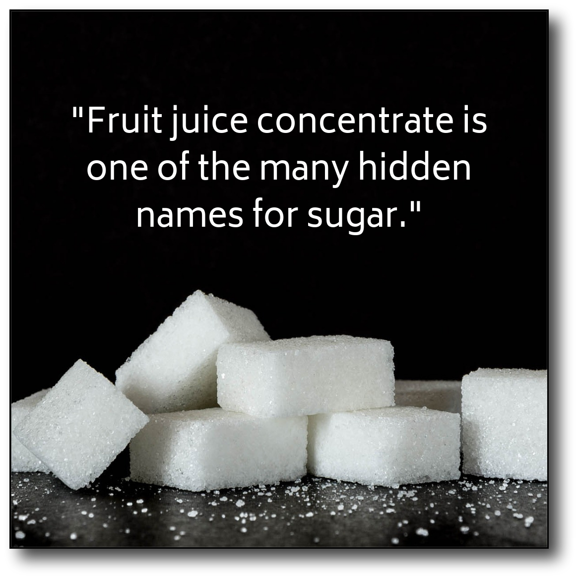 Fruit juice concentrate - hidden name graphic
