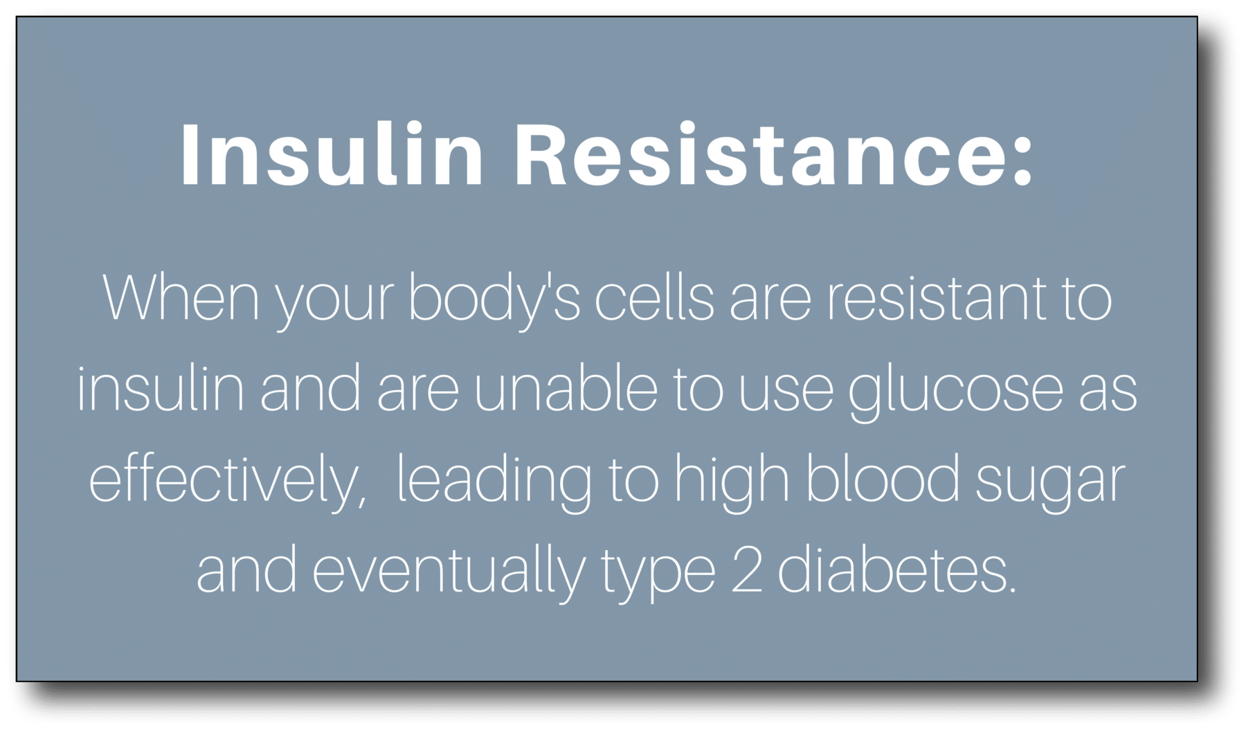 Losing weight after 50 - Insulin Resistance