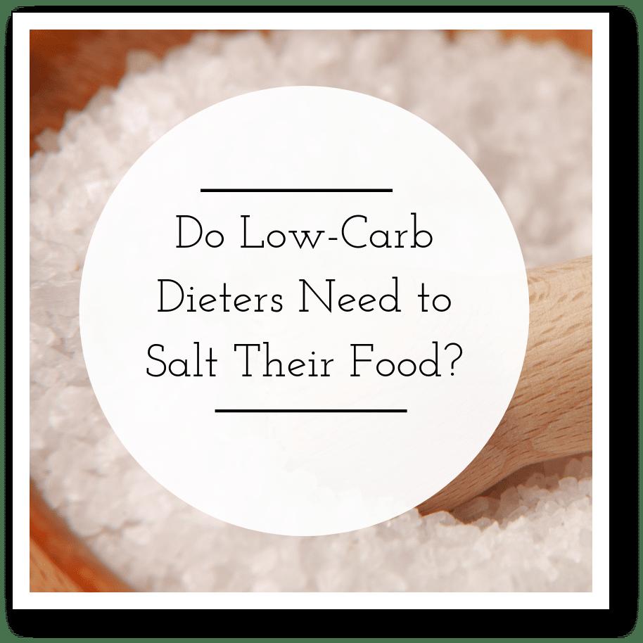 salt on a low carb diet