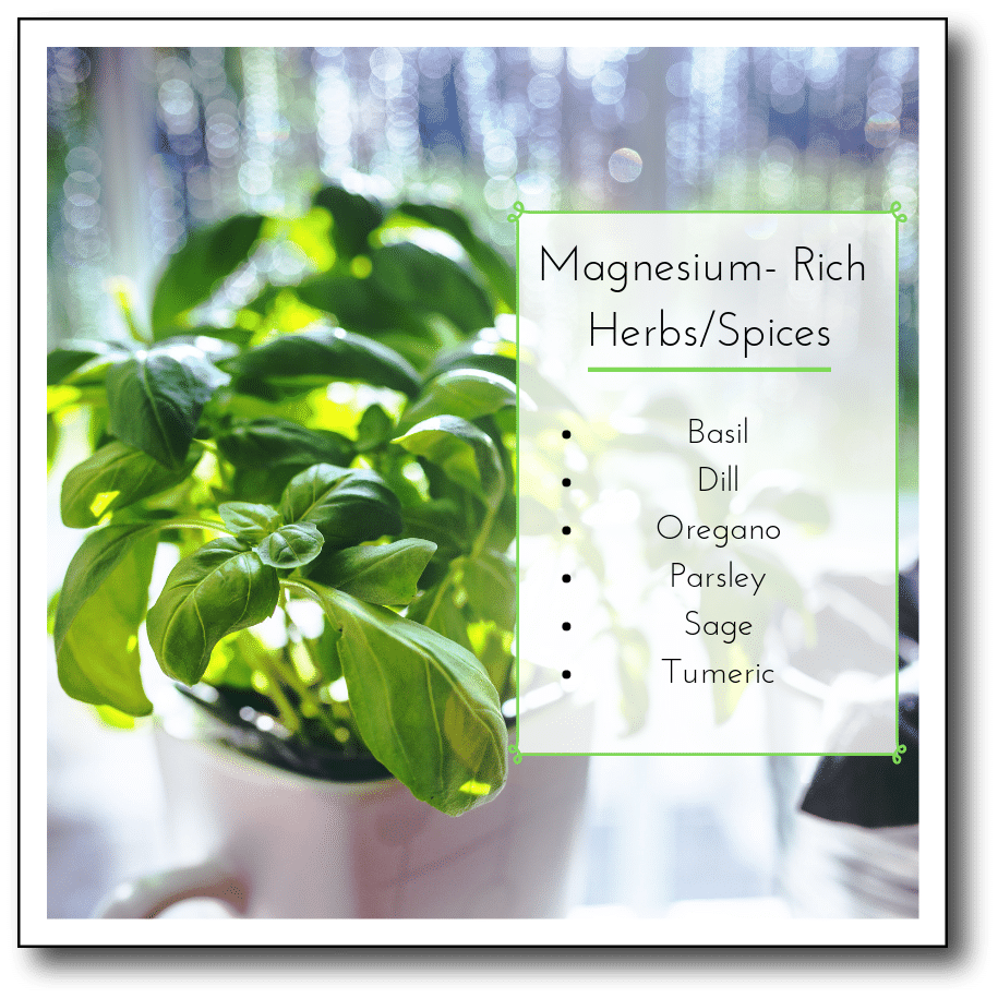 magnesium-rich herb & spices