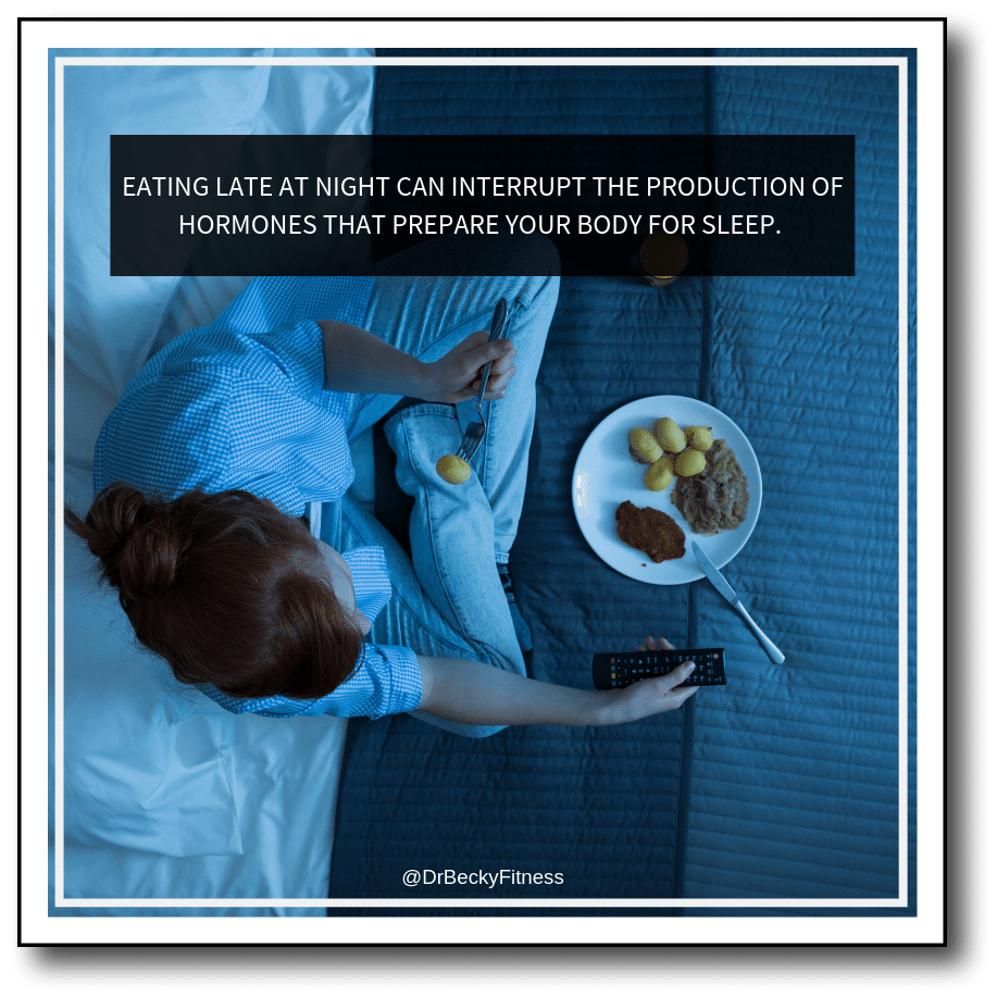 late night eating disrupts sleep