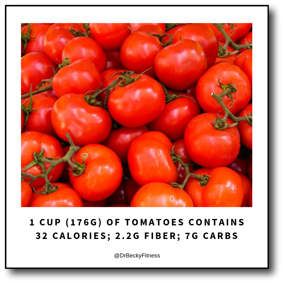 tomatoes are lower in carbs and healthy due to lycopene