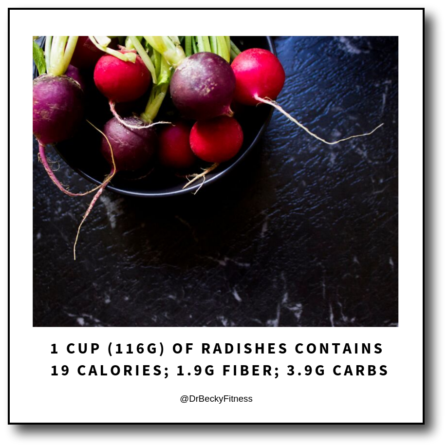 radishes are low in carbs