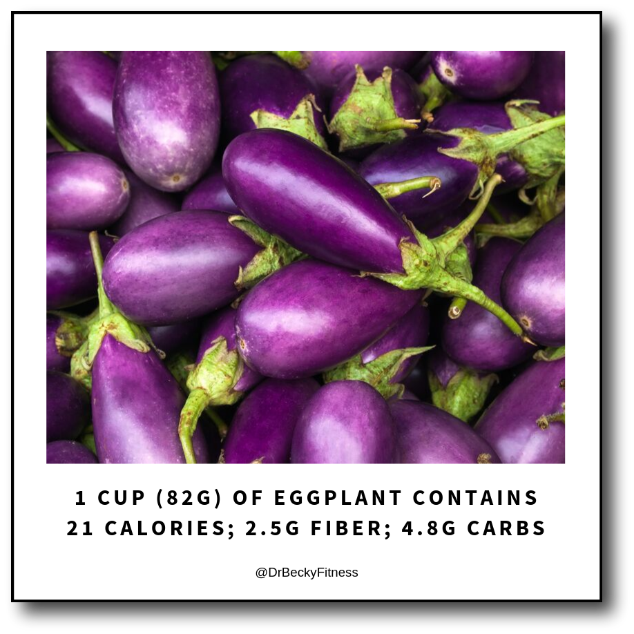 eggplant is low in carbs and high in antioxidants