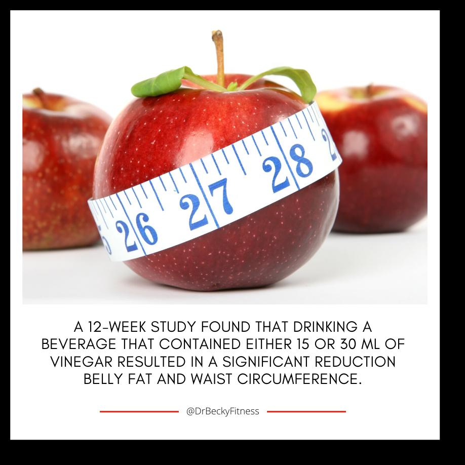 apple cider vinegar reduces belly fat