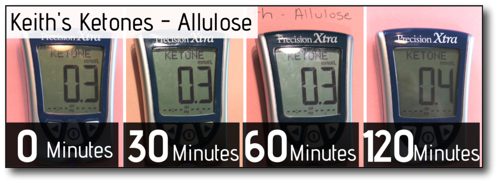 sweetener in coffee and fasting Allulose - male Ketones