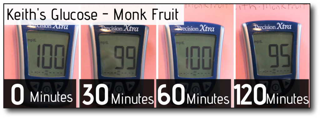 sweetener in coffee and fasting Monk Fruit male glucose